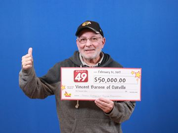Oakville man wins the lottery