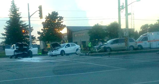 Car Crash Cambridge Evening News M