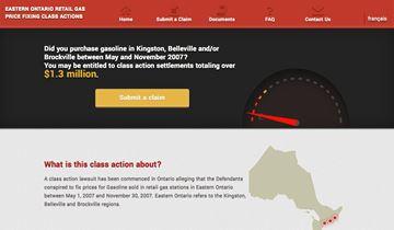 A screenshot of gasclassaction.com