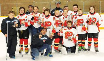 Penetanguishene peewee Flames win Port Dover tournament