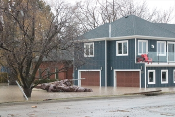 This home at the corner of Church Street and Green Road in Stoney Creek sustained flood damage during the weekend of April 15.