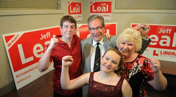 MPP Jeff Leal and his family on election night -- June 12, 2014