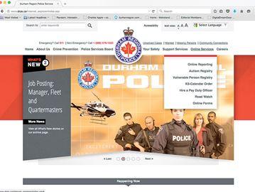 Police online services in Durham