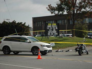Motorcyclist thrown in Steeles Avenue crash