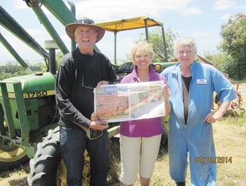 Bob and Mary Merry prepare to visit a cattle and sheep farm (with host Rhys) during their trip to New Zealand.