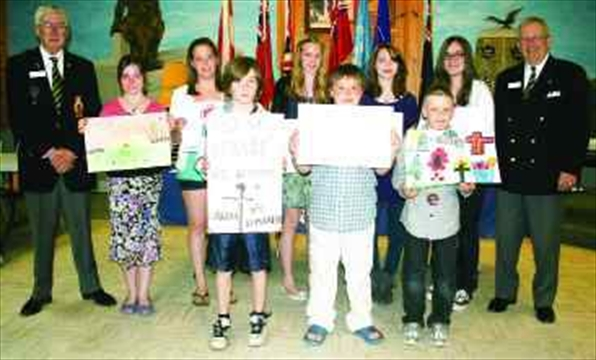 almonte legion recognizes poster poem and essay winners