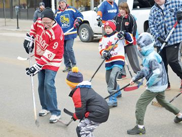 Midland enjoys the good ol' street hockey game