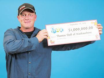 Waubaushene man wins $1 million in Lotto Max Maxmillions draw