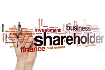 Who are the shareholders of a business in the Stock Market?