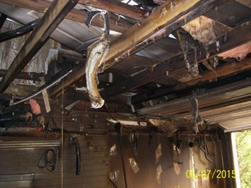 Garage fire in Everett