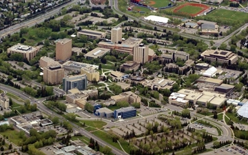 The campus of the University of Calgary, is shown on Saturday May 29, 2004. The university says it is reviewing the situation of Connor Neurauter, a student who pleaded guilty to sexual interference last year. THE CANADIAN PRESS/Adrian Wyld