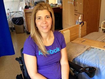 Michelle Earle at the rehabilitation centre