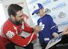 Curtis Joseph signs autographs in Burlington