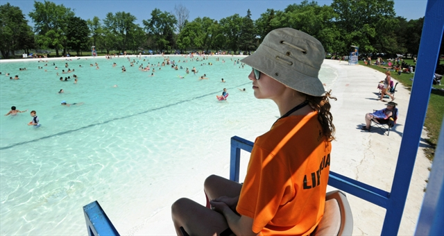 Kiwanis Park And Pool Reopens After Friday's Storm Damage