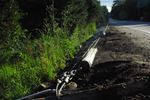 Guardrail damage on South Mary Lake Road