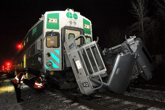 Train collides ... Collides With Crossword
