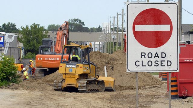 Kitchener LRT construction