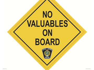 No Valuables On Board