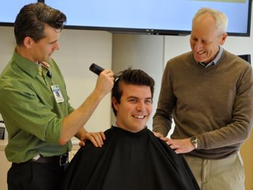 Clipping for a cause in Barrie