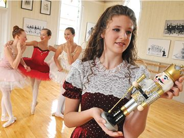 MANCHESTER -- Dancers at the Island Dance Studio were busy rehearsing their parts for 'The Nutcracker,