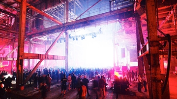 Unsound Festival at Hearn Generating Station