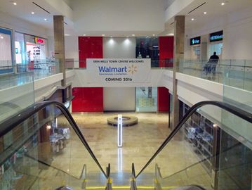 walmart taking over old target location at erin mills town