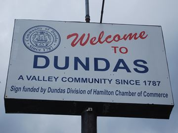 Welcome to Dundas sign