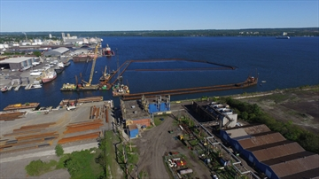 Bermingham worked on the first phase of the Randle Reef containment project this summer.