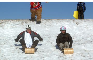 Grand opening of Hamilton's Garth Reservoir toboggan hill