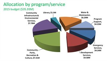 Allocation by program/service