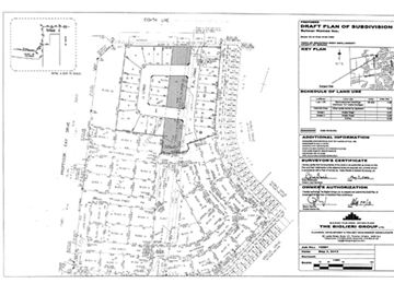 Subdivision plans for Professor Day Drive and Line 8