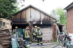 Milton garage fire