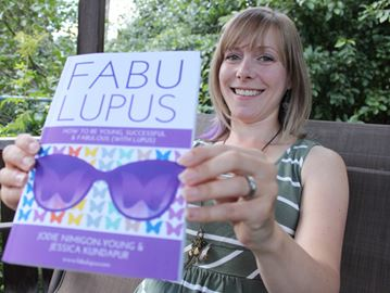 Lupus resource book co-author Jodie Nimigon-Young