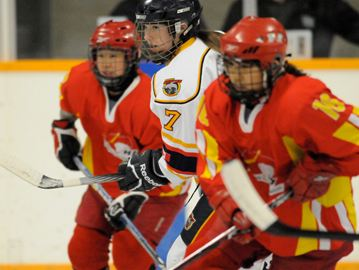 The Barrie Junior Sharks faced the Chinese Women's Olympic Hockey Team in an exhibition game in front of a packed East Bayfield Community Centre Nov. 26.