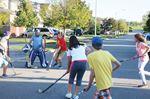 Street hockey on Brooking Street