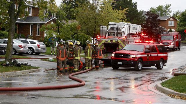 Fire on Sedgefield Road