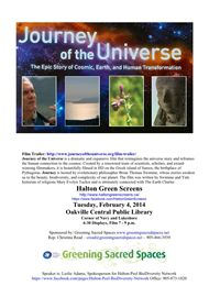 Film Screening: Journey of the Universe