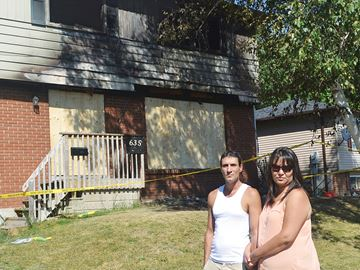 Midland couple determined to bounce back from fire