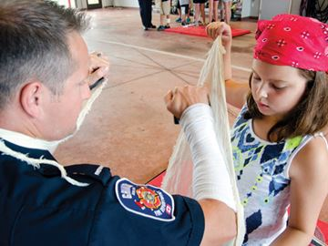 Kids learn fire safety from the experts