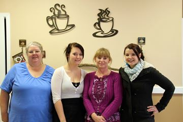 From left, bakery staff Lisa Roberts, Holly Raymond, Lori Hamilton and Terri-Lynne Bowes.