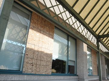 Barrie City Hall windows smashed