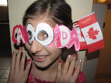 Thanks to Richmond Hill's Orly Dinar for this photograph of her eight-year-old daughter, who made some special glasses and got her nails painted to show support for Canadian athletes.