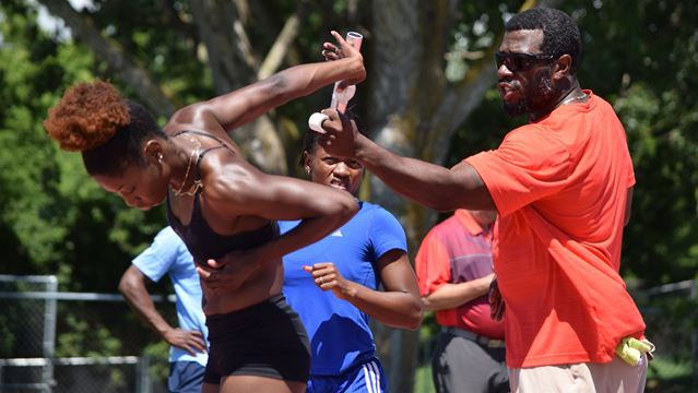 Canada's Olympic relay sprinters train at Mooney's Bay Park