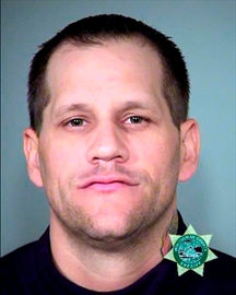 This undated photo provided by the Multnomah County Sheriff's office shows Jason Blomgren. Federal supervision officers have cited concerns that Blomgren, who pleaded guilty last year to conspiring to impede federal employees from carrying out their work at Oregon's Malheur National Wildlife Refuge, has been using opiates, which would be a violation of his release conditions, based on a positive result for morphine on a May, 2017, urinalysis test. Blomgren's defense lawyer and investigator argue, based on an outside expert's opinion and review of the test results, that eating an everything bagel with poppy seeds for breakfast every day could not be ruled out as the source of the morphine results. (Multnomah County Sheriff's Office via AP, File)