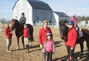 Gardiner Equestrian, a new riding school in Beamville, has already gathered a number of awards. Pictured here are students and staff. In no particular order are Tess Lorinczi, Ruth Rundberg, Sarah Hamm, Heather Gardiner, Jessica Raffale, Brooke Stewart and Nicole Thomas.