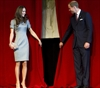 The Duke and Duchess of Cambridge unveil a painting at the War Museum in Ottawa on Saturday July 2. Kate wore a grey dress designed by Catherine Walker, a favourite of Princess Diana's.