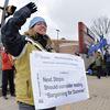 Durham public high school teachers' strike