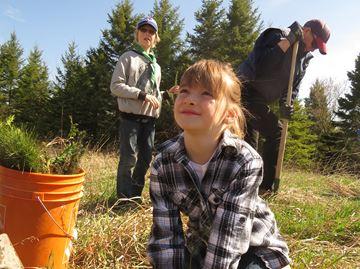 Tree planting at Dreossi farm - May 2, 2015