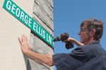 Sign honours memory of Alliston's George Ellis