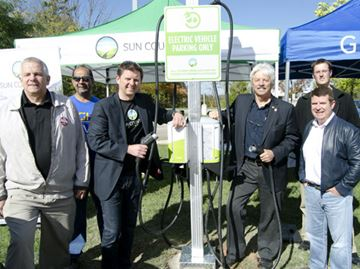 Get a charge, free of charge at Ball's Falls